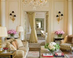 interior elegant biege french living room color ideas classic