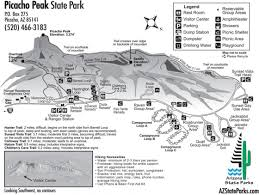 Arizona State Map by Picacho Peak State Park Civil War Trust