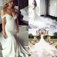 wedding gown design new design shoulder mermaid wedding dresses pearls backless