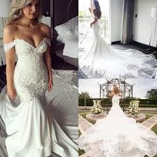 wedding gown design new design shoulder mermaid wedding dresses pearls backless