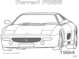 ferrari drawing 1994 ferrari f355 coloring page free printable coloring pages