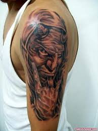 half sleeve devil tattoo design for guys tattoo viewer com