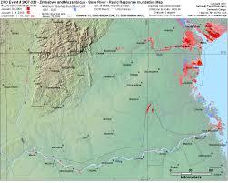 Zimbabwe Map Zimbabwe And Mozambique Save River Rapid Response Inundation