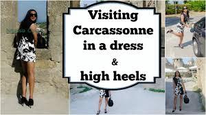 crossdresser stockings high heels crossdresser in carcassonne summer dress and stiletto high heels t