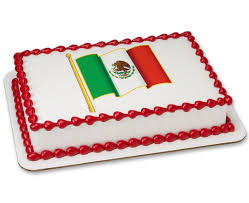Mwxican Flag Mexican Flag Photocake Cake Cakes Com
