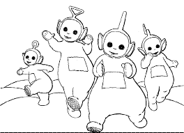 unique teletubbies coloring page 14 with additional coloring print