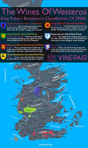 Map Westeros The Game Of Thrones Wine Map The Wines Of Westeros Westeros