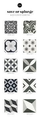 save or splurge black white floor tile black bath and house
