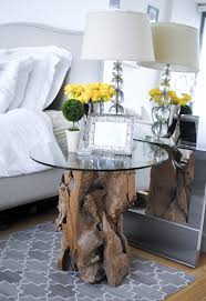 Unique Nightstand Ideas Unique Wooden Bedside Table Of Rectangular Table Lamp Nearby 4