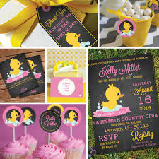 baby shower themes girl chalkboard rubber duck baby shower theme girl baby shower