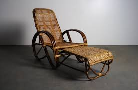 Reclining Lounge Chair Vintage Reclining Rattan Lounge Chair With Pull Out Ottoman U2013 Abt