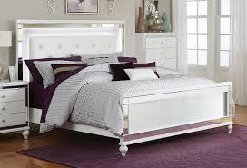 bed lighting homelegance alonza bedroom set with led lighting brilliant white