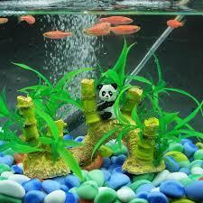 1pcs Aquarium Panda & Bamboo Landscaping Ornament Fish Tank
