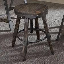 liberty furniture pineville industrial adjustable height bar stool