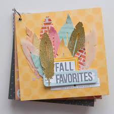 5x5 Album Kelly Purkey Fall Favorites Mini Album Class