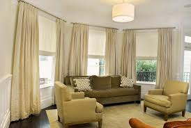 Roman Shade With Curtains 25 Roman Shades And Curtain Ideas To Harmonize Modern Living Rooms