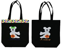 personalized disney minnie mouse and mickey mouse trick treat