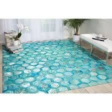Turquoise Area Rug Michael Amini City Chic Turquoise Area Rug By Nourison 8 X 10
