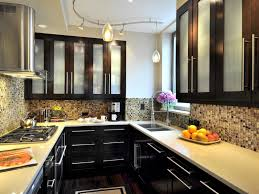 kitchen captivating black rectangle unique wooden small space