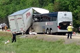 Pennsylvania bus travel images 3 killed when bus carrying italian tourists collides with truck in