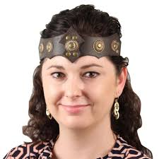 leather headband ornate warrior leather headband depot