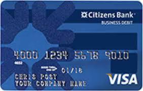 prepaid business debit card citizens bank credit cards cardsbull