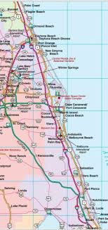 road map up central east florida road map showing towns cities and