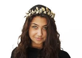 goddess headband goddess gold leaf crown headpiece grecian gold headband