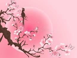 cherry blossom tree with bird japanese vector stock