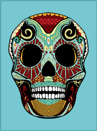 chris cockerill design day of the dead skull