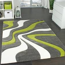 Green Modern Rug Modern Abstract Rug Lime Green Grey White Thick Floor Carpet Small
