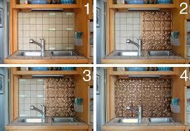 Kitchen Room  Design Gold Color DIY Metalic Kitchen Backsplash - Diy backsplash ideas