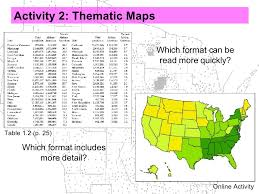 Isoline Map Definition Activity 2 Thematic Maps Which