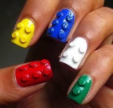 lego nail design nails blue red nail white yellow pretty nails