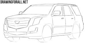 how to draw a cadillac escalade drawingforall net