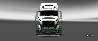 white volvo truck volvo vnl 780 coolliner jan deckers jr bv 1 27 modhub us