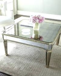 mirrored glass coffee table mirrored glass coffee table peekapp co
