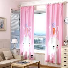 Curtains For Baby Room Online Shop 3d Children Pink Cute Rabbit Curtains Kids Room Korean