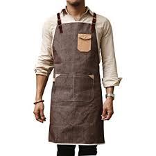 tablier homme cuisine m l taille bracelet cuir personnalisés denim tablier pour barbier