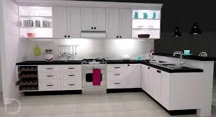 white kitchen cupboards black bench cocinas integrales 10 ideas para modernizarlas