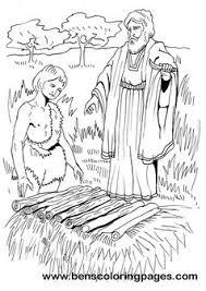 abraham sacrifices isaac bible coloring page