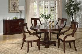 Round Cherry Kitchen Table by Deep Cherry Finish Classic Dinning Room W Round Dining Table