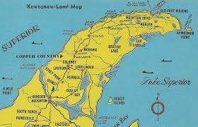 map of calumet michigan up houghton calumet copper harbor mi 1950s keweenaw penins flickr