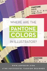 where are the pantone colors in adobe illustrator courses