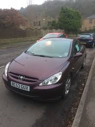 peugeot 309 convertible in maroon in holmfirth west yorkshire
