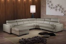 furniture l shape leather sofa with chrome metal legs plus