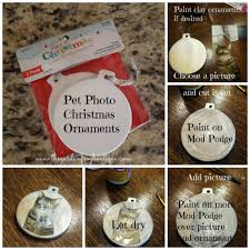 pet photo christmas ornaments the garden frog boutique