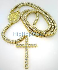 rosary necklaces 1 row iced out gold rosary necklace bling hip hop rosary