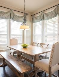 Dining Room Window Treatment Ideas Interiors By Kathy Rollins Valance Turquoise And Interiors