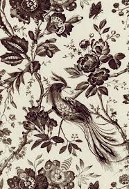 Upholstery Fabric With Birds 1048069 Birds Of Paradise Black By F Schumacher Fabric